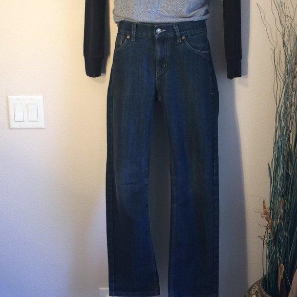 511 Levi's black waist tag, red pocket tag slim 29